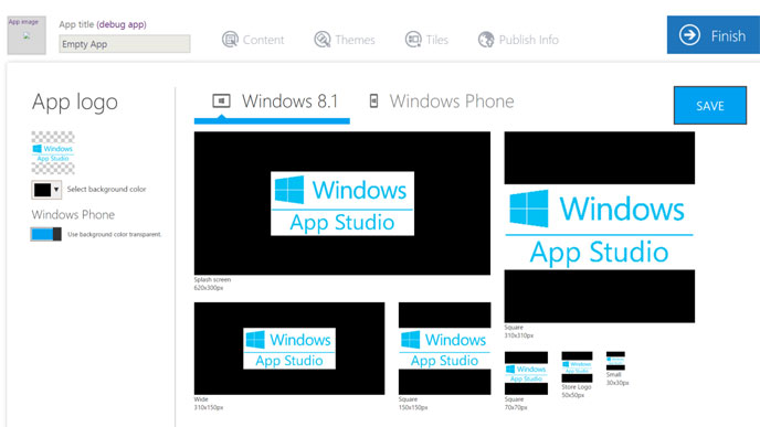 windows app studio
